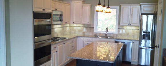 Painted Maple Kitchen Remodeling Asheville NC